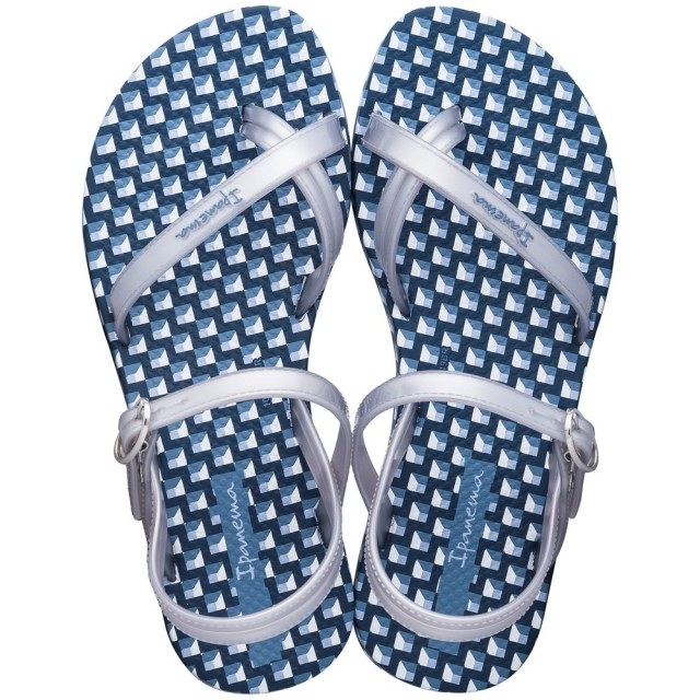 IPANEMA-FASHION-SANDAL-KIDS Blue-Silver